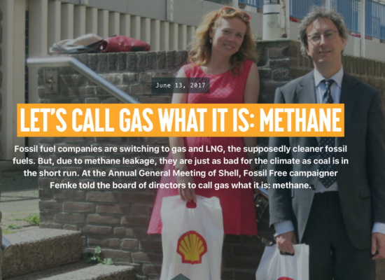 Let's call gas for what it is: methane