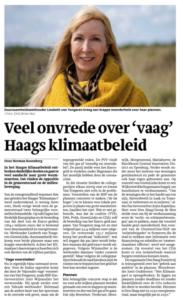 Veel onvrede over vaag Haags klimaatbeleid